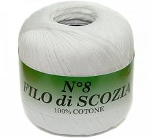 Filo Di Scozia №8 (Фило Ди Скозиа №8 - 82 белый