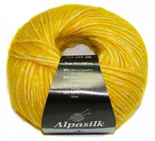 Пряжа Альпасилк (Alpasilk) 444 желтый