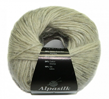Пряжа Альпасилк (Alpasilk) 36 серенький