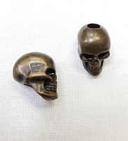Наконечник (концевик) череп, бронза
