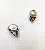 Наконечник (концевик) череп, серебро