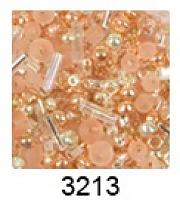"""Бисер """"ТОНО"""" MIX 2 , цвет 3213 розово-золотой"""