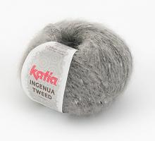Пряжа Ингенуя Твид (Ingenua Tweed), цвет 103 жемчужно серый/черный/белый