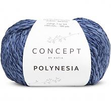 Пряжа Polynesia, цвет 74 темный джинс