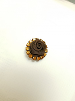 Пуговица на ножке шоколадная. 21 мм