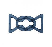Пряжка-застежка т.синяя, 50 х 80мм