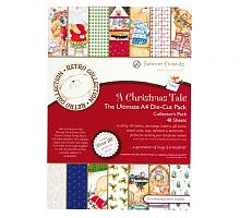 Набор для скрап-проектов с высеченными элементами и бумагой A Christmas Tale