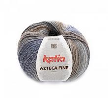Пряжа Azteca Fine  (Ацтека Файн) 217 серо-бежево-голубой - снят с производства