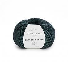 Пряжа Cotton-Merino(Коттон-Мерино), цвет 56 изумрудно/черный