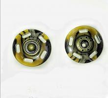 Кнопка пришивная пластикова цвет под рог, 25 мм