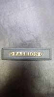 Нашивка, иск.кожа/металл, черная/бронза FASHION