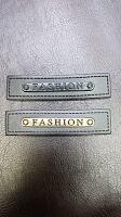 Нашивка, иск.кожа/металл, черная FASHION