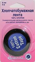 ТЕСЬМА ДЛЯ УКРЕПЛЕНИЯ ШВОВ черная, 5м, шир.6мм
