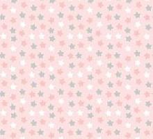 Поплин звезды серо-розовые