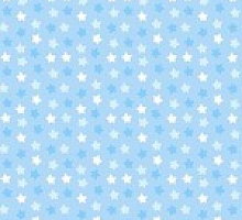 Поплин звезды на голубом