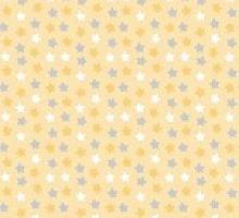 Поплин звезды на желтом