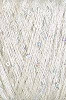 Пряжа Пайетки (Pailletten), цвет 01 кремовый