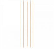 Спицы 5-комплектные бамбуковые - №2