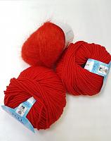 Набор для шапочки Juli-18 красный: пряжа+описание