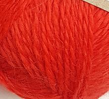 Пряжа Рэббит ангора (Rabbit Angora), цвет 20 красный мак