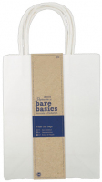 Сумка бумажная подарочная для декорирования белая большая
