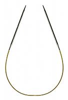 Спицы, круговые, супергладкие, никель, №2, 30 см