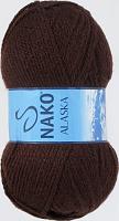 Пряжа ALASKA Nako, цвет 7122 шоколад