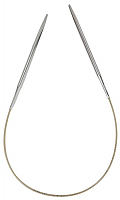 Спицы, круговые, супергладкие, никель, №6, 50 см
