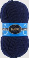 Пряжа ALASKA Nako, цвет 7121 темно-синий