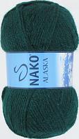 Пряжа ALASKA Nako, цвет 7123 изумруд