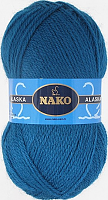 Пряжа ALASKA Nako, цвет 7118 морская волна