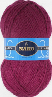 Пряжа ALASKA Nako, цвет 7120 бордо