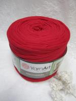 Трикотажная пряжа Maccheroni, цвет красный