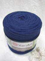 Трикотажная пряжа Maccheroni, цвет темно-синий