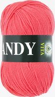 Пряжа Vita Candy, цвет 2520 коралл