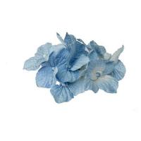 Букетик гортензии, голубой, 10 цветочков