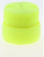 Лента контактная (липучка) лимонная, 25 мм