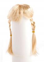 Парик для кукол с косичками блондин