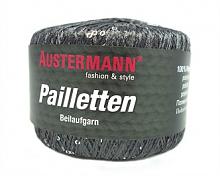 Пряжа Pailletten (Пайетки), цвет т.серый