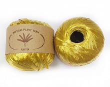Пряжа Рафия (Raffia), цвет 112 золотистый