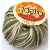 Adelia «LUCIA» № 133 белый-св.зеленый-т.зеленый-коричневый