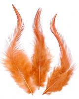 Перья петушиные оранжево-розовые (лососевые), 10 см