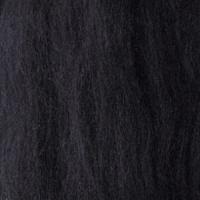 Пряжа LG_Wool (ЛГ Шерсть) для валяния 100% шерсть 100 г 0001 чёрный