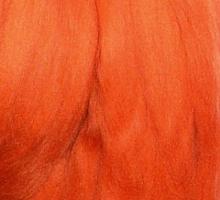 Пряжа LG_Wool (ЛГ Шерсть) для валяния 100% шерсть 100 г  0670 морковный