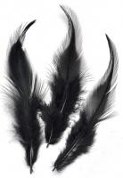 Перья петушиные чёрные, 10 см