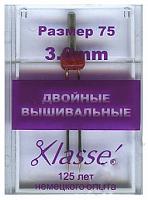Иглы для бытовых швейных машин стрейч двойные № 75/11 - 4 мм