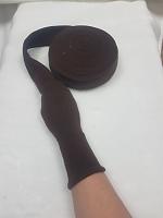 Манжеты  трикотажные кругловязанные на метраж, цвет коричневый