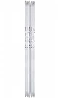 Спицы, чулочные, алюминий, №2, 20 см. 5 шт в блистере