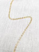Тесьма декоративная из страз, золото 3 мм.