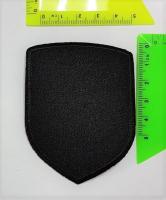 Термоаппликация однотонная черная, 5,7х8 см